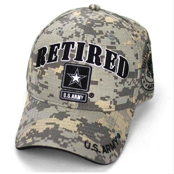 e95673c52 Retired U.S. Army Cap Hat Camo